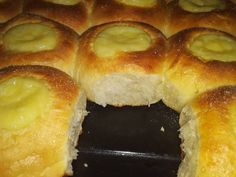Sweets Cake, My Dessert, Hot Dog Buns, Doughnut, Love Food, Food And Drink, Cooking Recipes, Bread, Homemade