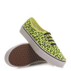 Vans Authentic Shoes - Neon Leopard / Yellow / Black. £52