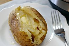 Cooking baked potatoes in the Instant Pot is easy and takes much less time than cooking them in an oven. The result is perfectly baked potatoes every time.