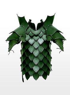 Drachentöter Lederrüstung grün
