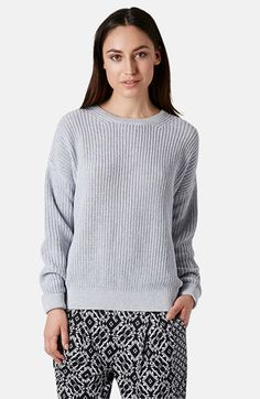 Topshop Ribbed Cotton Sweater available at #Nordstrom