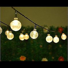 Solar #garden fairy #lights cmyk 30 led crystal ball #bulbs decoration art deco,  View more on the LINK: 	http://www.zeppy.io/product/gb/2/282061514583/