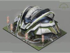 Anno 2070: Eco buildings, Tobias Frank on ArtStation at https://www.artstation.com/artwork/r5me