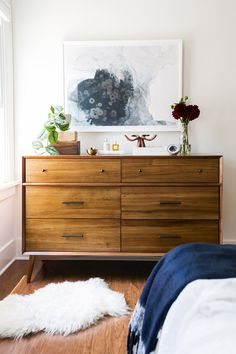 (Boheme + modern +50s) Mid-Century 6-Drawer Dresser - Acorn - WE