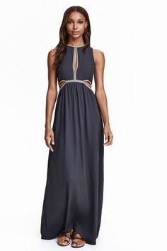 f7f28fd29157 Long chiffon dress - Dark blue - Ladies
