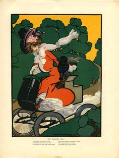 Puck Magazine ad, illustration by Frank A. Nankivell. 1902