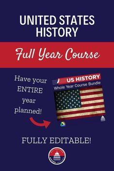 This TpT product contains an entire year's worth of curriculum for United States History! This course has been refined over 12 years of teaching and is ready to use in your high school social studies classroom. Click to make your life SO much easier this school year! #TpT #socialstudies #education #ushistory #NotAnotherHistoryTeacher