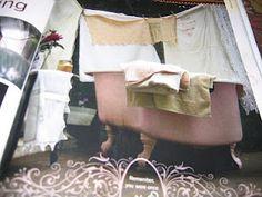 Art of Outdoor Bathing: Maryjane's Farm article, cast iron tub, propane heater underneath. Outdoor Bathtub, Cast Iron Tub, Outdoor Living, Outdoor Decor, Bathing, Baby Strollers, Heart, Bath Tub, Homesteading