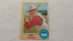 1968 Topps Pete Rose single baseball card