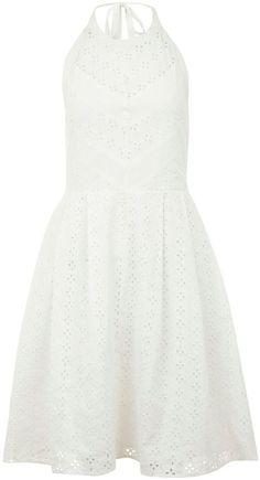 Uttam Boutique Chevroned halter neck dress
