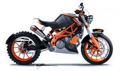 One current looking bobber of today that has the idea of yesterday with the might and power of today. Nothing beats KTM orange, check out this motorcycle today.