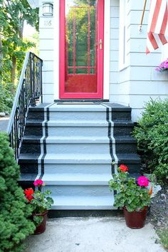 Best Concrete Front Steps With Stone Veneer … House 400 x 300