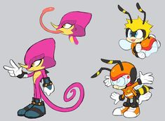 Charmy is so CUTE! How can I say no to a little bee Sonic The Hedgehog, Hedgehog Art, Silver The Hedgehog, Sonic Adventure, Geeks, Game Character, Character Design, Resident Evil, Sonic Mania