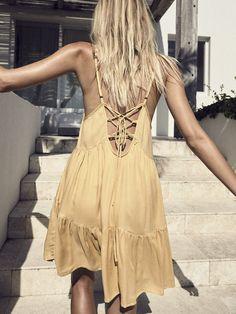 R O W I E   'Ochre' High Summer 16/17   Santo Mini Dress Ochre