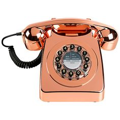 $102 Buy Wild & Wolf 746 1960s Corded Telephone, Copper Online at johnlewis.com