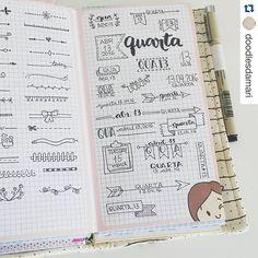 Página de ideias de cabeçalhos e decorações para o BuJo. Ótimo para não esquecer as inspirações e ter várias opções  #Repost @doodlesdamari with @repostapp. ・・・ Estou usando um dos meus caderninhos para guardar idéias de cabeçalhos e alguns efeites para o meu journal.  Using one of the notebooks to keep headers and embellishments ideas for my journal.  #midori #fauxdori #mtn #travellersnotebook #fabricdori #deiadori #bulletjournal #bujo #bujoinspire #journal #journaling…