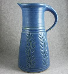 Tall Pitcher -stems - Clay