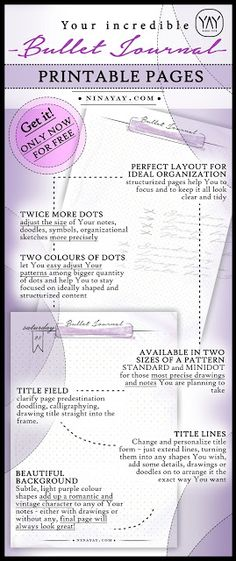 PRINTABLE BULLET JOURNAL PAGES - ONLY NOW FOR FREE - Bonus for THE HIGHLIGHTS - #Life-planner | #printable comprehensive life #planner and bullet journal for 2016, 2017, 2018, 2019, 2020, 2021, 2022, any year planner. Reach your goals and enrich the life with it. Best organizer You will ever find. To-do & shopping lists, schedules, new years resolutions, self reflection sections, personalized pages and much more! Stay perfectly #organized and go for Your dreams!