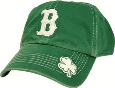 Red Sox Green Contrast Stitch Hat with Shamrock