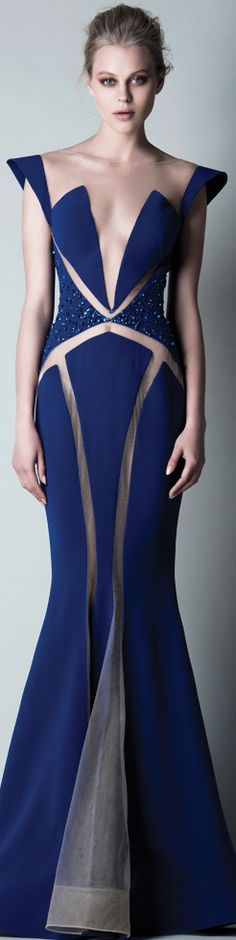 Saiid Kobeisy Pre-Fall 2015 - Ready-to-Wear Fashion Moda, Blue Fashion, Couture Fashion, Runway Fashion, Saiid Kobeisy, Fall Fashion 2016, New Blue, Couture Dresses, Beautiful Gowns