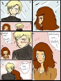 DracoxHermione comic: You are too cute by 19Gioia93.deviantart.com on @DeviantArt