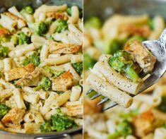 Csirkés-brokkolis penne   21 nap alatt Penne, Nap, Pasta Salad, Lunch, Diet, Ethnic Recipes, Food, Crab Pasta Salad, Eat Lunch