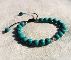 Adjustable Turquoise mala beads by KhasyorInternational on Etsy