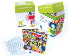 Kwizniac - For trivia fans, the play-it-anywhere Kwizniac game puts a new twist on trivia. Players must get as many points as possible by answering trivia questions with as few clues as they can. It's easy to learn and a blast for game nights with friends and family.