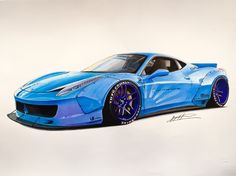 Ferrari 458 LB in baby blue
