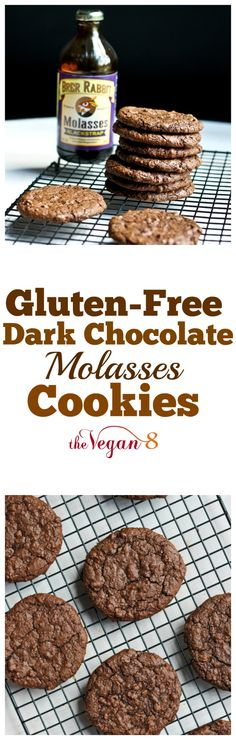 Gluten-free Dark Chocolate Molasses Cookies | http://TheVegan8.com