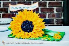 80th Birthday Sunflower Cake... Coolest Birthday Cake Ideas