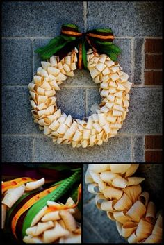 This is really easy to do I just made me one like this, but I cut poinsettias and painted then pinned them for a beautiful wreath.
