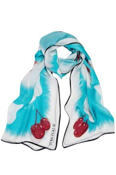 Cherry Silk Scarf  #tukutukum #silkscarf