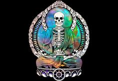 Cosmic Buddha Skeleton  Artwork