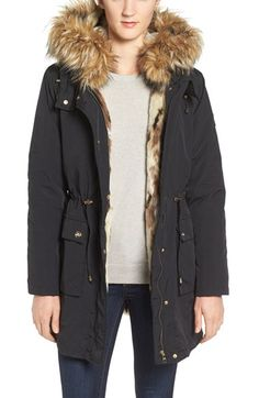 97b8a0c2d39 Free shipping and returns on Steve Madden 'Taslon' Parka with Faux-Fur Trim  Hood at Nordstrom.com. Soft and fuzzy faux fur circles the face-framing  hood ...