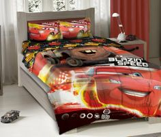 """Disney Cars Blazing Speed Full Bedding Comforter Set by KingLinen. $59.99. Disney Cars Blazing Speed juvenile Full bedding comforter set.FeaturesMachine washable This set includes:1 Comforter (76""""x86"""")1 Fitted Sheet (54""""x75"""")2 Standard Pillowcases (20""""x30"""")"""