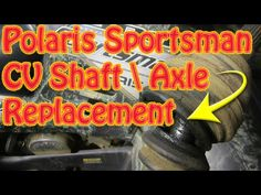 2 wheel drive polaris chain driven straight axle machine. Here is how to remove the rear axle. 815-363-1254