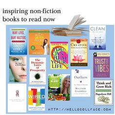 Books to Inspire You   http://hellodollface.com/2013/09/non-fiction-books-to-inspire-you-right-now/