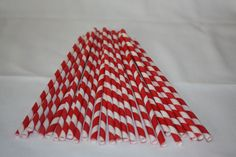 Retro Red Striped Paper Straws Pk 25  http://partylish.com.au/shopping/pgm-more_information.php?id=157&=SID