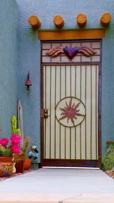 Southwestern style door in Tucson, Arizona. - by ScenicSW
