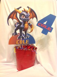 PRINTABLE DIY Skylander Centerpiece, front and back included by PartiesByTristan on Etsy, $5.00