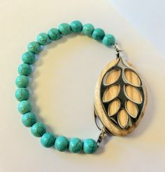 Turquoise Gemstone Bracelet for the Leaf BEST SELLER (18.00 USD) by LadyLeafCo