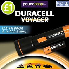 New in today...Duracell LED Flashlight & 1 X AAA Battery! Handy, portable and available for only £1! www.poundshop.com/travel-leisure/view-all