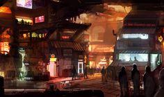 CHROMA - Slums #1 by Minyi  The future of urban claustrophobia...