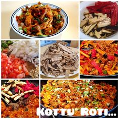 Kottu is a popular Sri Lankan street food. It can be a vegetarian and non-vegetarian dish prepared with fresh or leftover ingredients. Kottu means chopped/diced. So, it simply means chopping of roti and stir fry them with ingredients of your choice. Add spice levels to your choice. It is generally very spicy. Here is my version of KOTTU ROTI using leftover Kuboos/Khubz and meat strips along with available vegetables. Prepare my recipe and enjoy!!! Vegetarian Dish, Cook Off, Stir Fry, Street Food, My Recipes, Food To Make, Fries, Spicy, Homemade