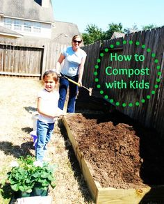 Composting with Kids- tangible ways to protect the environment and reduce waste. #greenkids