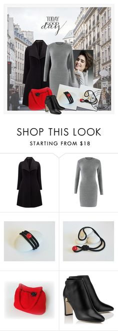 """""""Black & Grey & Red"""" by styledonna on Polyvore featuring moda i Studio 8"""