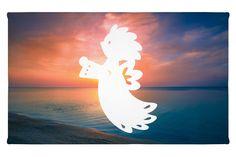 """Gäste Handtuch Schutzengelchen aus Kunstfaser  Natur - Das Original von Mr. & Mrs. Panda.  Das wunderschöne Gästehandtuch von Mr. & Mrs. Panda wird liebevoll von uns bedruckt und hat die Größe 30x50 cm.    Über unser Motiv Schutzengelchen  Das Wort """"Engel"""" bedeutet Bote/als Gesandter. Ein Engelchen steht als Beschützer, als Himmelsgesandter und soll Glück und Zuversicht bringen. Als Schutzengel soll er dem Beschenkten helfen, mit besonderen Lebensanforderungen fertig zu werden. Nicht nur zur…"""