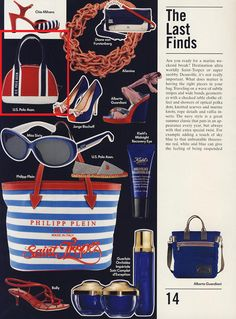 The navy style is a great summer classic! Do you 'like' our bag and shoes featured in @VogueMagazine Accessory?