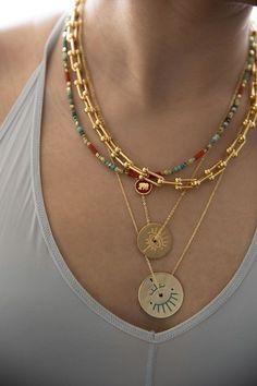 Eye Jewelry, Jewelry Model, Heart Jewelry, Beaded Jewelry, Jewelery, Fashion Jewelry, Beaded Necklace, Necklace Lengths, Pendant Necklace